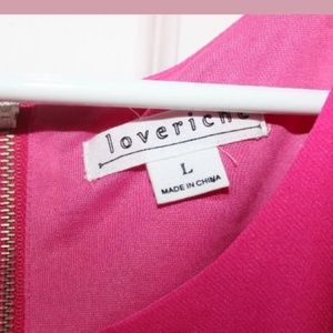 Love Riche Dresses - New LoveRiche Fuchsia Side Cut Out Dress Large